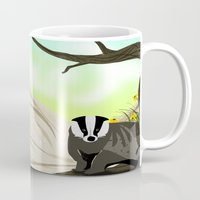 badger Mugs featuring Badger by TailorMade:ART