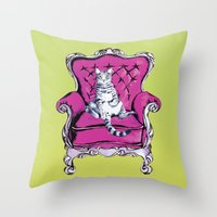 lime Throw Pillows featuring Lime by Rebel June