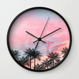 Summer Palm Tree #Society6 #Buyart #Decor Wall Clock