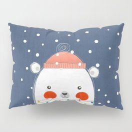 Christmas Bear with fairy lights no2 Pillow Sham