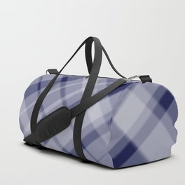 blue and white picnic Duffle Bag