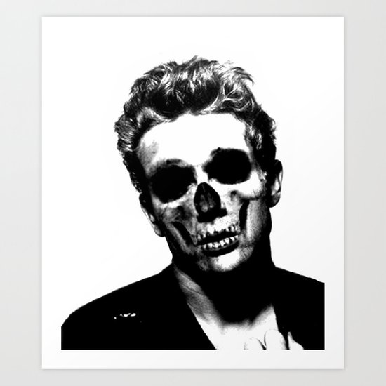 james dean black and white painting - photo #9