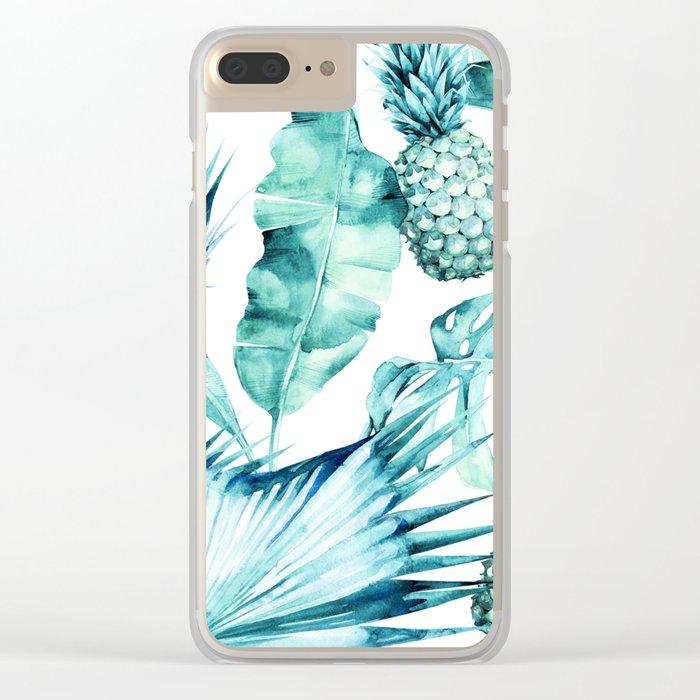 Bahamas - aquamarine Clear iPhone Case