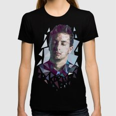 Tyler Joseph Low Poly Portrait MEDIUM Black Womens Fitted Tee