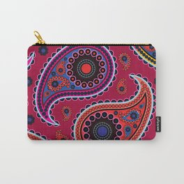 Oriental Persian Paisley, Dots - Red Blue Pink Carry-All Pouch