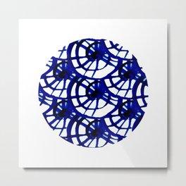 Shibori Curly Maze Metal Print
