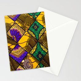 Retro Mardi Gras African Print Stationery Cards
