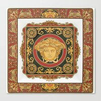 versace Canvas Prints featuring Classic Versace by Goldflakes