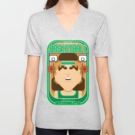 Basketball Green - Alleyoop Buzzerbeater - June version Unisex V-Neck