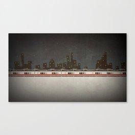 Train Scene Canvas Print