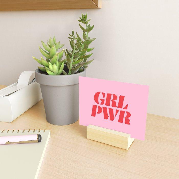 Girl Power GRL PWR Mini Art Print