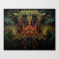 moth Canvas Prints featuring moth by AmeliaPeelArt