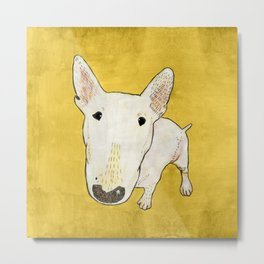 English Bull Terrier pop art Metal Print