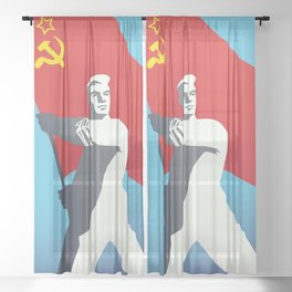 Soviet Union Sheer Curtain
