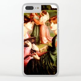 "Dante Gabriel Rossetti ""The Bower Meadow"" Clear iPhone Case"