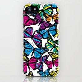Vibrant Butterflies iPhone Case