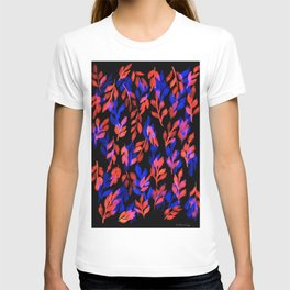 180726 Abstract Leaves Botanical Dark Mode 22 |Botanical Illustrations T-shirt