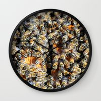 minions Wall Clocks featuring Hive of Activity by Shawn Kelvin