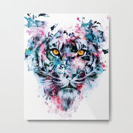 Tiger Blue Metal Print