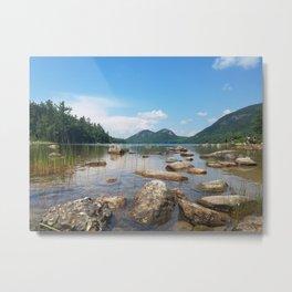 Jordan Pond in Acadia National Park, Maine Metal Print