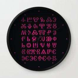 Glagolitic Alphabet Wall Clock