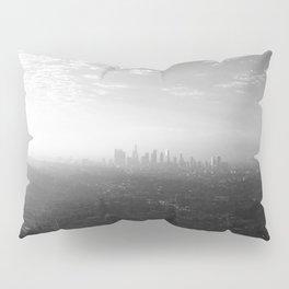Los Angeles. L.A. Skyline. Black and White. Jodilynpaintings. Sunrise. Sunset. Cityscape. California Pillow Sham