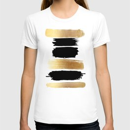 Brush Strokes (Black/Gold) T-shirt