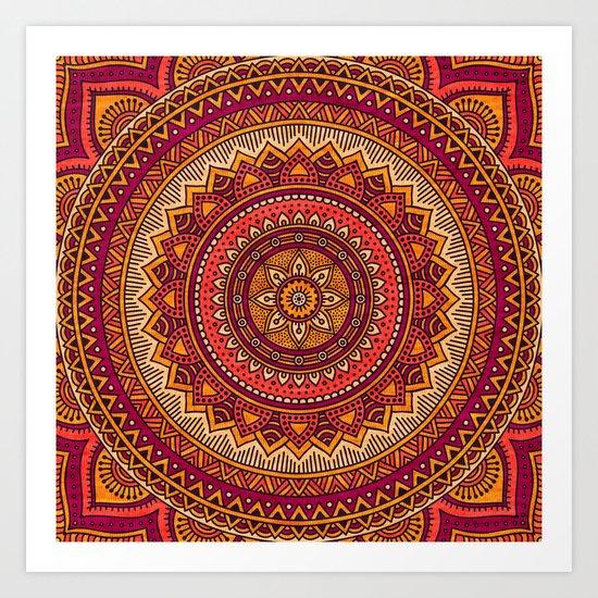 Hippie mandala 33 Art Print