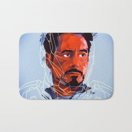 Iron Man, Robert Downey Jr. Fan Art Bath Mat