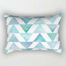 Aqua Triangles Rectangular Pillow