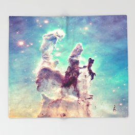 Pillars of Creation Aqua Cool Throw Blanket