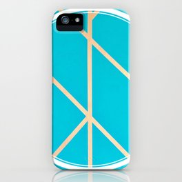 Leaf - circle/line graphic iPhone Case
