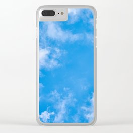 Summer Clouds Clear iPhone Case