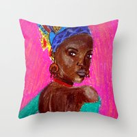 african Throw Pillows featuring African by Ksuhappy