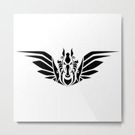 Pegasus (B/W) Metal Print