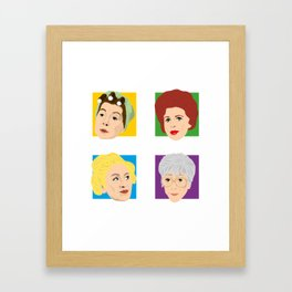Coronation Street - Hilda, Elsie, Annie and Blanche Framed Art Print