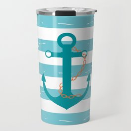 AFE Nautical Teal Ship Anchor Travel Mug