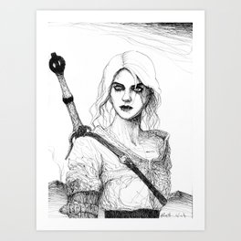 Witcher Ciri Art Print