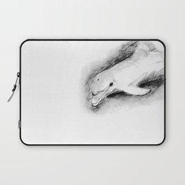white dolphin Laptop Sleeve