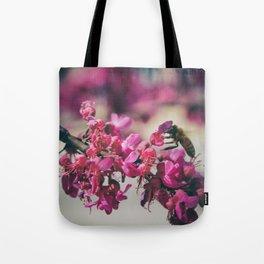 a redbud bee Tote Bag