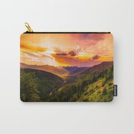 Beautiful Sunset Mountains Valley Landscape Carry-All Pouch