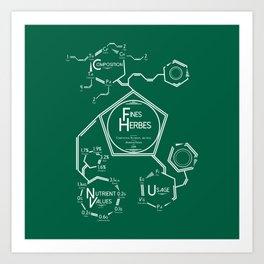 Fines Herbes Molecular Diagram Art Print