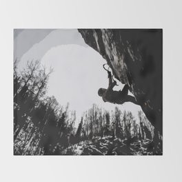 Climbers Silhouette #2 Throw Blanket