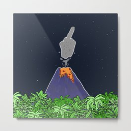 Volcano enojado Metal Print