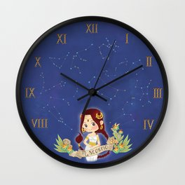 SCORPIO my cute horoscope Wall Clock
