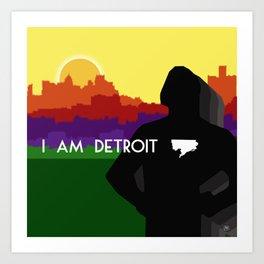 I AM DETROIT Art Print