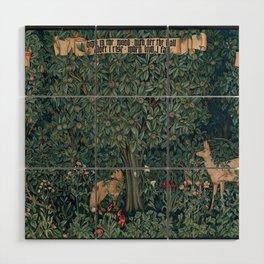 William Morris Greenery Tapestry Wood Wall Art