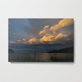 Sunset Coast Sweden Metal Print