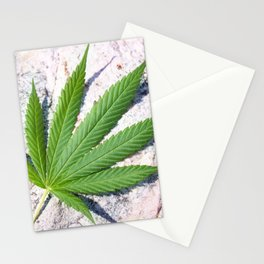 Cannabis On Stone Stationery Cards