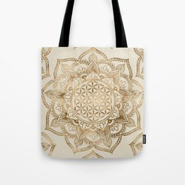Flower of Life in Lotus - pastel golds and canvas Tote Bag